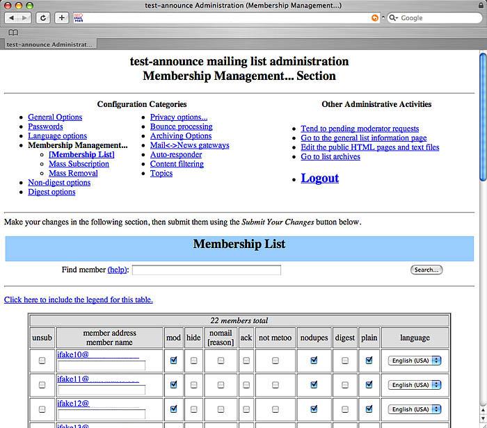 Liste de diffusion outils conviviaux for Liste de diffusion